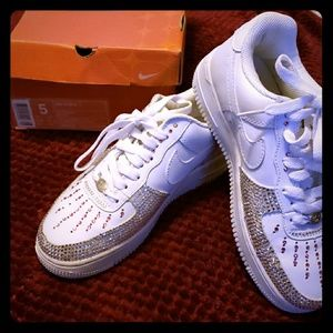Nike Shoes - Custom bling Nike Air Force Ones 5c7d33687074